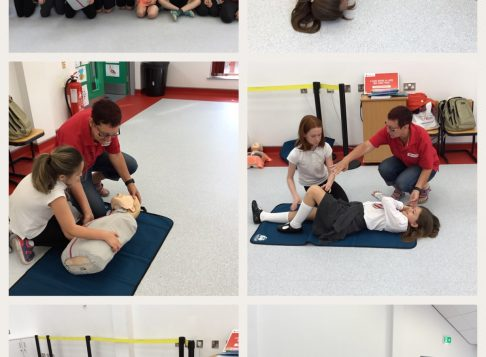 We had first aid training from The British Red Cross.  Don't worry  you're all in safe hands now.