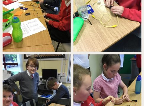 We are learning all about the Titanic and how they used morse code to send out the SOS signal.  We made electrical circuits with buzzers and bulbs to try to send our own SOS calls.  The classroom was a bit noisy for a while.
