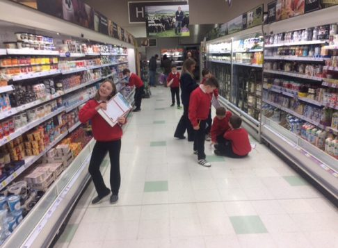 P6 went on a healthy eating quest at Tesco