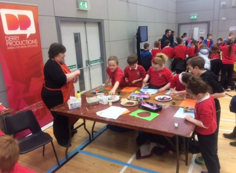 All of Key Stage 2 went to a Science Show at Foyle Arena on Friday 24th February. We got to take part in fun experiments.