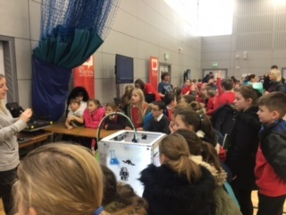 Enjoying the 3D Printer at the Science Show.